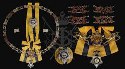 皇室领导人或州元首可根据受封者的行为,决定是否遞夺勋衔。图为柔佛皇室封赐的勋衔。