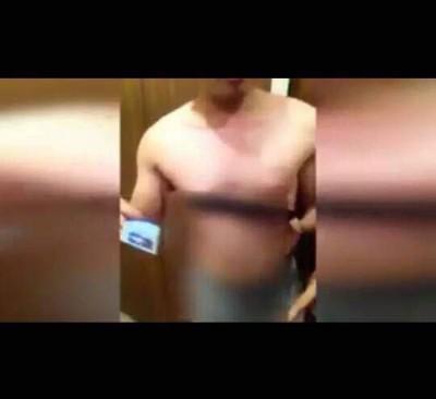 涉嫌在米都一间购物中心吸毒及进入女厕,裸剩底裤被捕的警长。