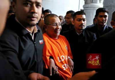 反贪会周三上午将依沙押到布城推事庭申请延扣。