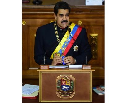 马杜罗指责美国政府意图干预委国内政。(法新社照片)