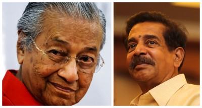 盛传马哈迪(左)将于下周与巴拉尼威会面,商讨合作,以在来届大选争取佳绩。
