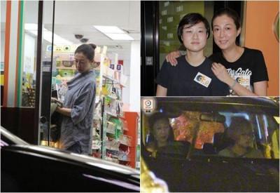 港媒拍到吴绮莉母女最近出外与朋友聚餐。