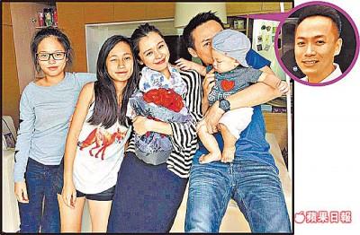 徐若瑄(右二)嫁给再婚的李云峰(右),并和李云峰与前妻生的女儿相处融洽。