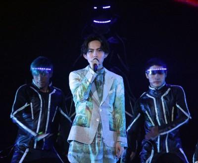 林宥嘉当演唱会上不断重覆相隔4年再来马开唱的心思。