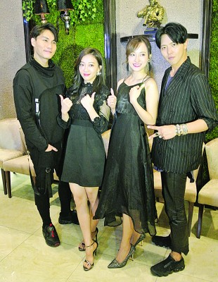 《舞极限》4名主要演员,左起为周定纬、郑如吟(玉兔)、李姸心和黄鸿升(小鬼)。