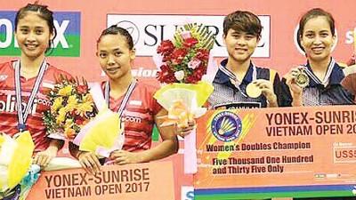 泰国女双查雅妮/帕泰玛斯击退印尼组合蒂尔拉/阿梅丽雅,夺得冠军。