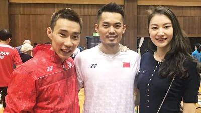 李宗伟飞赴日本与活动,啊顺道见见老朋友林丹伉俪。