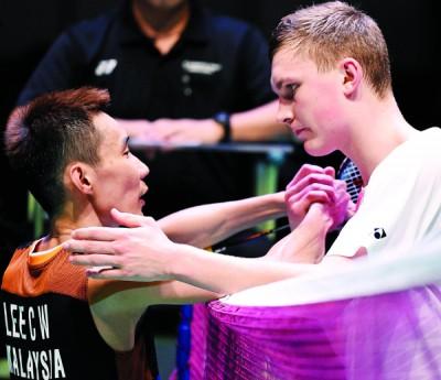 阿薛森上个月以格拉斯哥连克谌天与林丹,当上新科世界冠军。