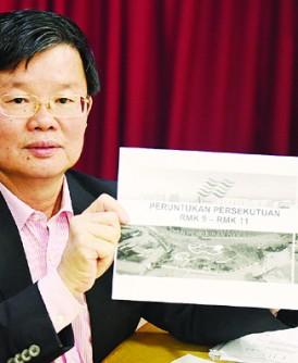 曹观友出示槟州水利灌溉局的数据,槟州从2006年至今,至获得4亿4300万令吉拨款,并非朱乃迪所讲的26亿令吉。