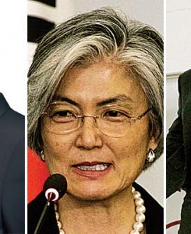 """李勇浩(左)强调朝鲜有权击落在领空外的美国轰炸机。韩国外长康京和(中)强调""""朝鲜半岛不能再有第二次战争""""。(右)出访印度的马蒂斯批评朝鲜若在太平洋试爆氢弹,将是""""一个令人震惊的不负责任举动。""""(法新社照片)"""