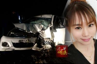 意外造成车毁,女司机邹婉依丧命。