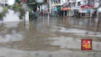 威省15个地区出现水淹情况。