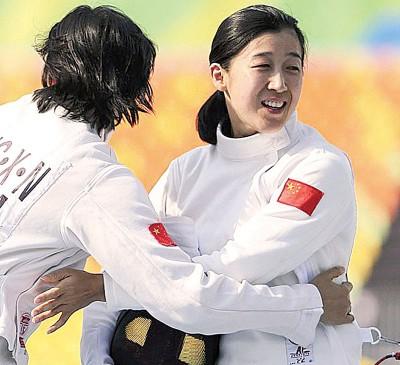 陈倩在里约奥运会比赛的档案照。