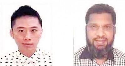 反贪会急晤杜联成(左)及莫哈末里祖安协助调查案件。