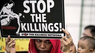 诸多口批评菲律宾政府打击毒贩的一手剥削人权。