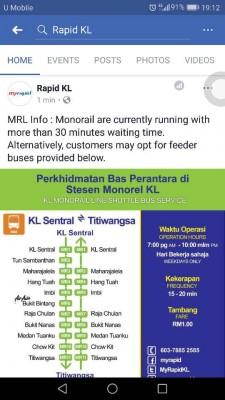 吉隆坡迅速通在脸书上简短声明。