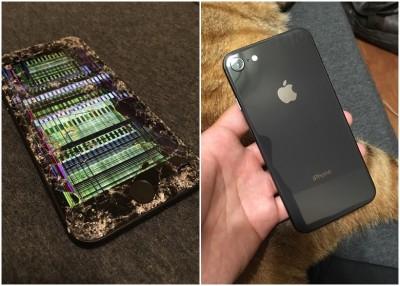 """台湾传出可能是iPhone 8全球首个""""爆屏""""的个案。"""