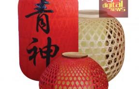 艺术风味满满的竹灯。