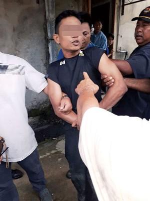 大年治安队包抄,燕窝贼未及逃脱被逮个正着。嫌犯交予警方进一步发落。