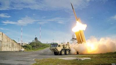 韩国传媒指星州基地的萨德可随时拦截导弹。