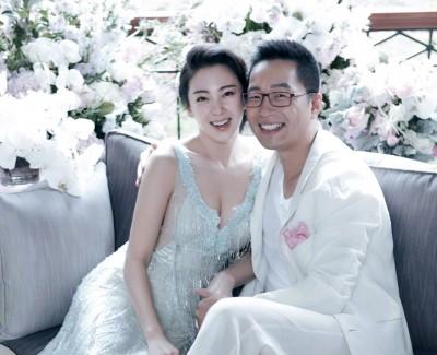 张雨绮今年6月在微博晒出婚纱照,暗示自己有孕。