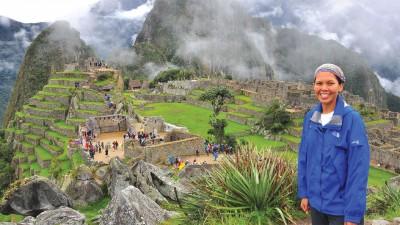 """""""终于来到秘鲁(Peru)的马丘比丘(Machu Picchu)时,身在远方的朋友们似乎比我还要雀跃!"""""""