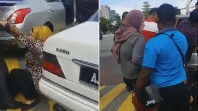 脸书传出一个在怡保火车站发生的2名女子疑因争停车位争执短片,引起网民疯传!
