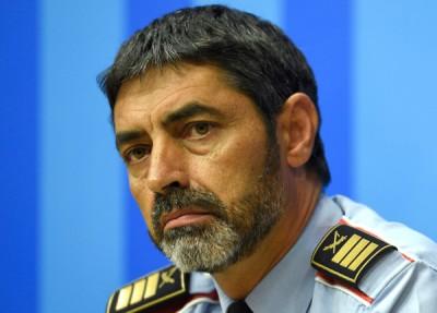 加泰隆尼亚自治区警察总长特拉佩罗被指涉嫌煽动。(法新社照片)