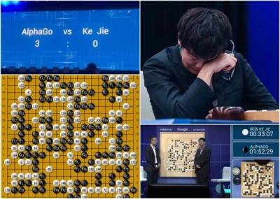 旧版AlphaGo曾击败围棋高手柯洁,令他当场沮丧拭泪。