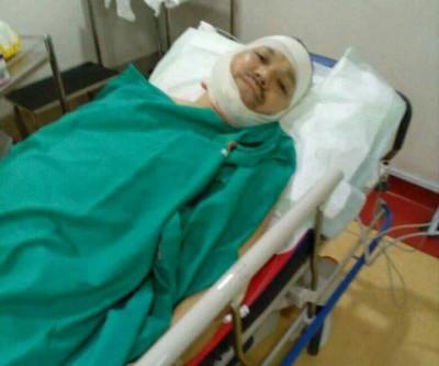 苏海米受伤后被送院接受治疗。(网络照片)
