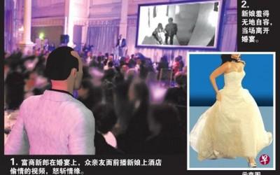 富商新郎婚宴上揭发新娘出轨行为,在众亲朋戚友面前怒斩情缘。