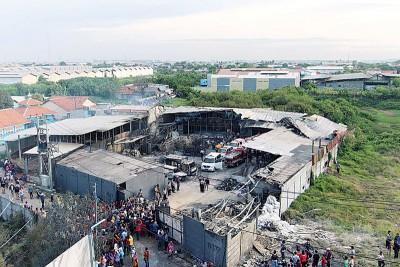 顿时从爆炸事故是近年印尼所产生之最大灾难。