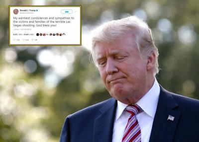 特朗普在社交网推特回应事件。
