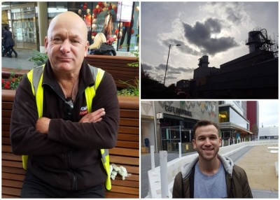 马田(左)和汤姆(右下图)也给影响之伦敦人,期望减少排放废气。