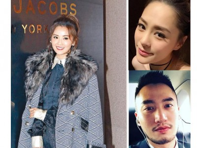 (左)蔡卓妍与阿娇是好姐妹,希望她可以开心拍拖。(右图)阿娇日前大方认爱男友赖弘国(右下)。