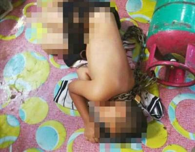 35岁军人被揭发将继子以铁链绑在煤气桶以惩罚对方逃课,目前已被逮捕。(档案照)