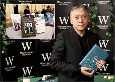 石黑一雄夺得诺贝尔文学奖后,其著作在中国顿成抢手货。