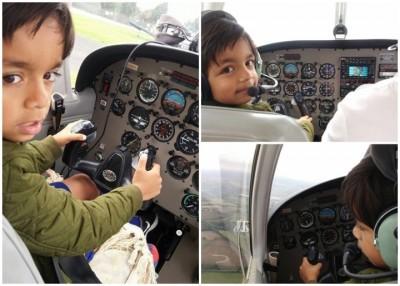 沃拉吉成全英国最年轻驾驶飞机的人。