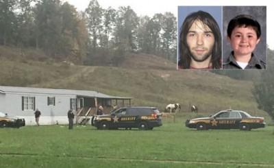 派出所到先后发现4负有尸体的汽车房屋调查。劳森(有些图左)干杀害3何谓成人和7春小童霍尔斯顿(有些图右)晚仍在逃。