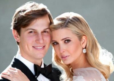 伊万卡贴出与库斯纳的合照,庆祝结婚8周年。