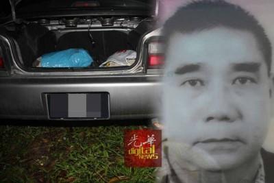 死者陈英俊车外吸废气自杀。