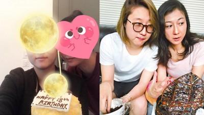 吴绮莉(右起)与女儿小龙女今年发生多次争执,晒出为女儿庆生的照片(左图),疑似已成功破冰。