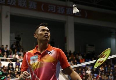 林丹上赛季为广州粤羽主场出战的档案照。