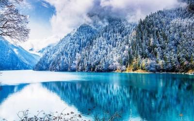 周九寨沟及生一致片银白,树、岩石、屋舍、深山全部披上了一致层晶莹的反动羽衣,接近走进了一致片圣洁仙境。