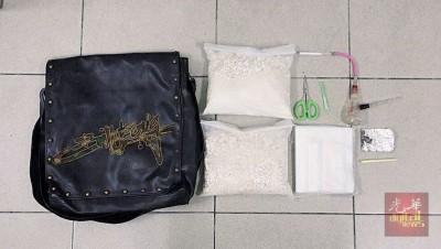 威北警方展示所缴获的毒品,相信市价高达31万令吉。