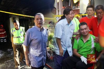 陈德钦赶往火患现场了解情况后表示,该党会协助林瑞木。