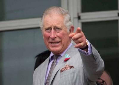英国王储查理斯首次代替英女王,在国殇纪念仪式中献花。