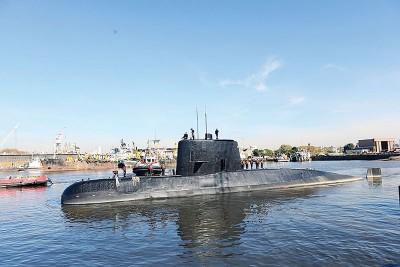 """阿根廷海军潜艇""""圣胡安""""号已经失去联一个星期。(法新社照片)"""