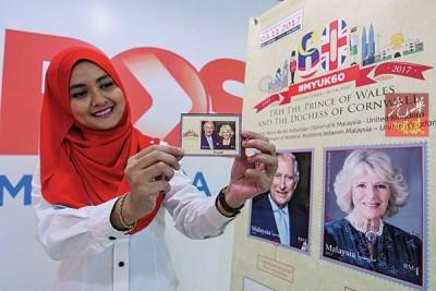 大马邮政公司推出标志着马英双边关系60周年纪念的特别邮票。