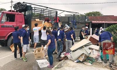 BSG Property职员加入赈灾行列,齐来为南美园灾区进行善后工作。